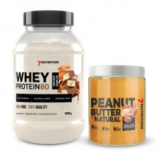 WHEY PROTEIN 80 2000g + PEANUT BUTTER - 7 NUTRITION