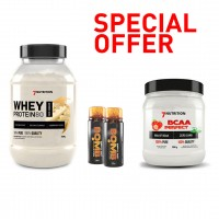 BUNDLE - Whey protein 80 2kg + BCAA Perfect 500 g + 2 BOMB 60ml - No Pain No Gain Nutrition