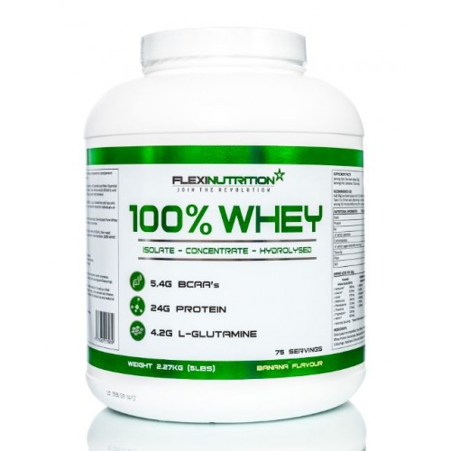 100% WHEY 2270g - FLEXI NUTRITION