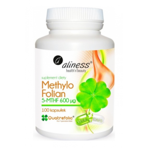 Methyl Folate 5-MTHF 600mcg 100 caps - Aliness