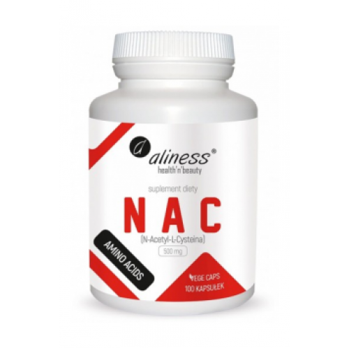 NAC (N-Acetyl-L-Cysteine) 500mg 100 caps - Aliness