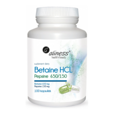 Betaine HCL Pepsine 650/150mg 100 caps - Aliness