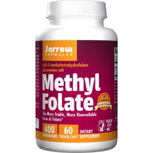 Methyl Folate 400 mcg 60 caps - Jarrow Formulas
