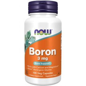 Boron 3mg 100 caps - Now Foods