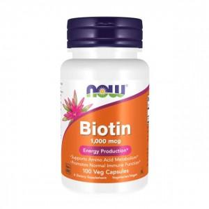 Biotin 1000 mcg Veg Capsules - Now Foods