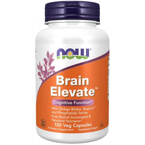 Brain Elevate Veg Capsules - Now Foods