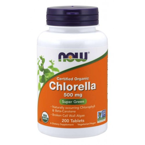 Chlorella 500mg - Now Foods