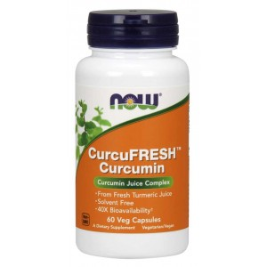 CurcuFRESH Curcumin Veg Capsules - Now Foods