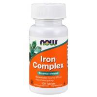 Iron Complex Vege Tabs - Now Foods