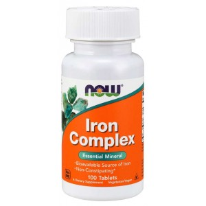 Iron Complex Vege Tabs - Now Foods