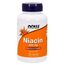 Niacin 500 mg - Now Foods