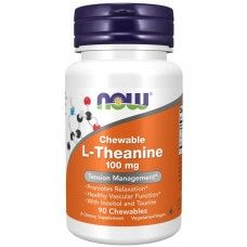 L-Theanine 100 mg 90 Chewables - Now Foods