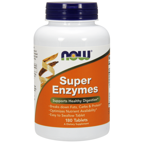 Super Enzymes - 180 caps - Now Foods
