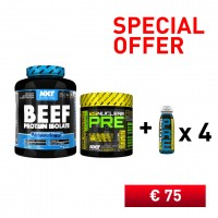 BUNDLE - BEEF PROTEIN + NUCLEAR PRE WORKOUT + 4 x NUCLEAR PRE WORKOUT SHOT - No Pain No Gain Nutrition