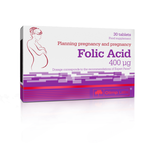 Folic Acid 400 30 caps - Olimp Sport Nutrition