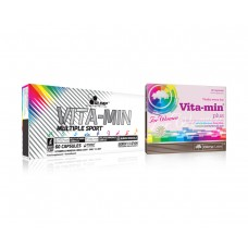VITA-MIN MULTIPLE SPORT + VITA-MIN WOMEN - Olimp Sport Nutrition