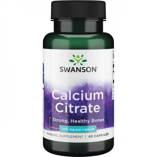 Calcium Citrate 200 mg 60 caps - Swanson